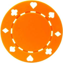 Jeton poker Suit 11.5g - Culoare Portocaliu