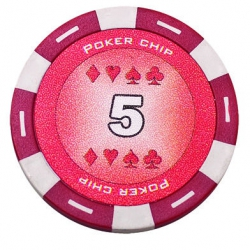Jeton Poker Chip 11.5g - Culoare Rosu - inscriptionat (5)1