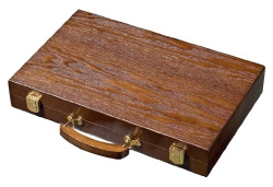 Set joc table / backgammon - frasin - 38x48 cm0