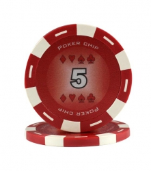 Jeton Poker Chip 11.5g - Culoare Rosu - inscriptionat (5)