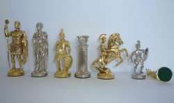 Piese sah tematice din metal - Roma antica