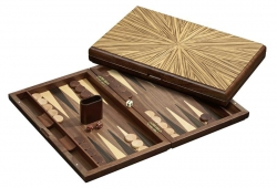 Set joc table / backgammon - lemn de arbore de cauciuc Mykonos - 49x60 cm2