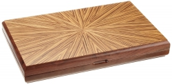 Set joc table / backgammon - lemn de arbore de cauciuc Mykonos - 49x60 cm0