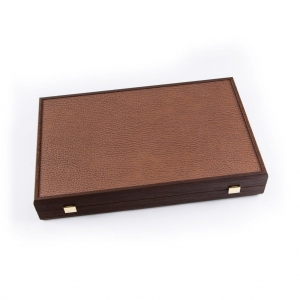 Set joc table backgammon piele model Caramel/Brown 48 x 60 cm4
