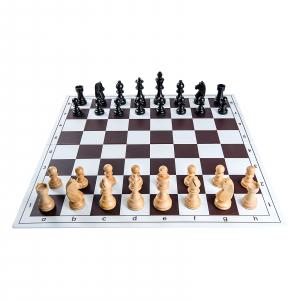 Piese sah lemn Staunton 6 Clasic Black cu tabla pvc alb-maro1