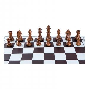 Piese sah lemn Staunton 6 Clasic cu tabla pvc alb-maro1