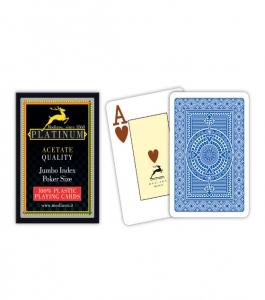 Carti de joc 100% acetat - Platinum poker Jumbo Index