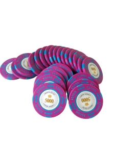 Jeton Poker Montecarlo 14 grame Clay, inscriptionat 5000