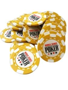 Jeton Poker WSOP Galben, clay 10 grame