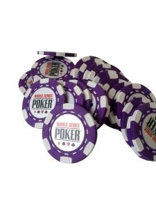 Jeton Poker WSOP Mov, clay 10 grame