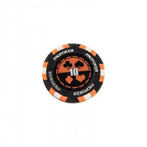 Jeton Pro Poker - Clay - 14g - Culoare Orange, inscriptionat (10)1