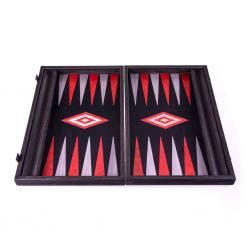 Set joc table backgammon - stejar negru cu linii argento - 48x60 cm1