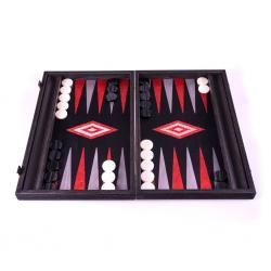 Set joc table backgammon - stejar negru cu linii argento - 48x60 cm0