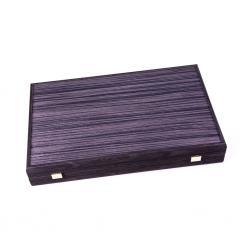 Set joc table backgammon - stejar negru cu linii argento - 48x60 cm2