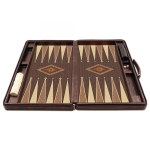 Joc table/backgammon - Star Leather (Imperfect) - Mare - 48x60 cm2