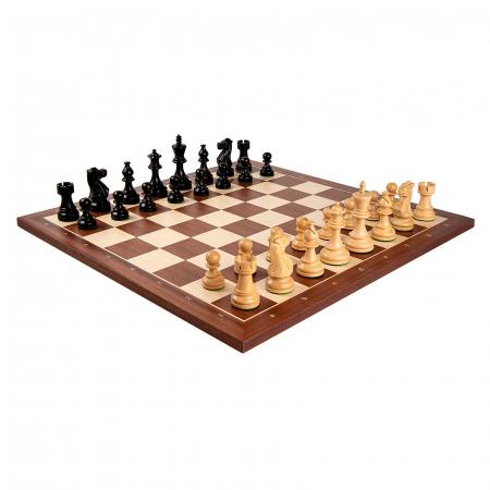 Piese sah American Staunton 6 Black cu tabla mahon no. 6 Rechapados1