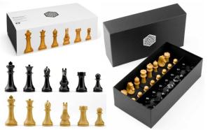 Piese sah lemn Staunton 6 World Chess Design cu tabla Deluxe Teak0