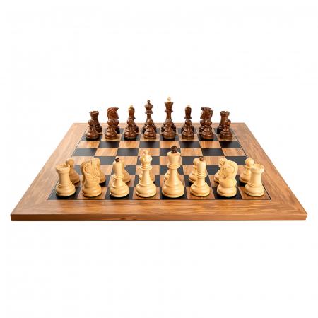 Piese sah Staunton 6 Dubrovnik cu tabla de sah din maslin no. 5 [1]