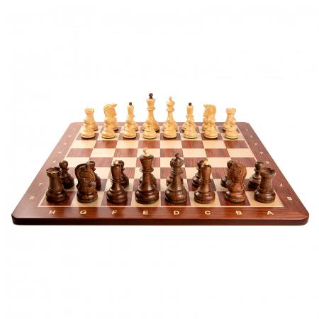 Piese sah Staunton 6 Dubrovnik cu tabla padauk no 5 [3]