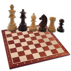 Combo set cu Piese Staunton 5 Clasic si tabla mahon no. 50