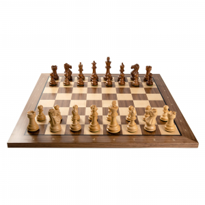 Combo Piese sah lemn Staunton 6 Tournament cu tabla sah nuc artar1