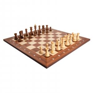 Piese sah lemn Staunton 6 Zagreb cu tabla sah lemn arin, 55mm0