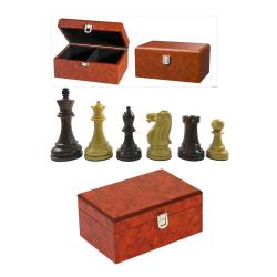 Piese Staunton 7 Imperator Rosewood in cutie radacina lemn0