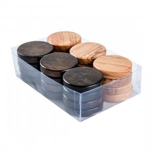 Puluri joc table din lemn de maslin - maro - d.37mm0
