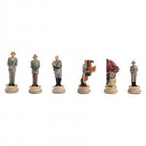 Piese sah tematice din ceramica - Razboiul Civil American (KH-4,3 cm)1