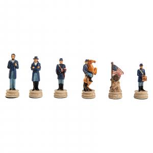 Piese sah tematice din ceramica - Razboiul Civil American (KH-4,3 cm)0