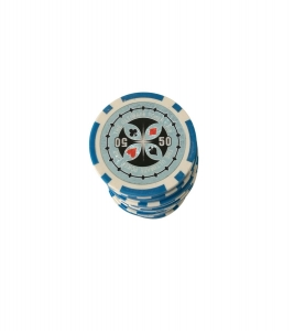 Set 25 jetoane poker ABS 11,5 gr model Ultimate, inscr. 500