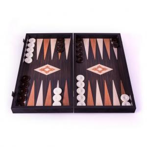 Set joc table/backgammon - aspect lemn wenge - 47,5cm1