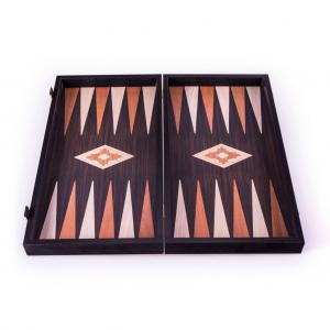 Set joc table/backgammon - aspect lemn wenge - 47,5cm2
