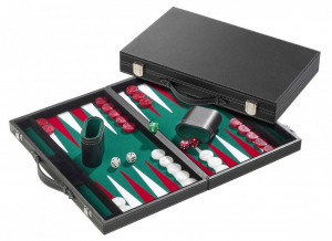 Set joc table/Backgammon in stil Casino - Mare - 53x64 cm