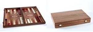 Set joc table/backgammon - Inlaid Nuc - 48 x 60 cm1