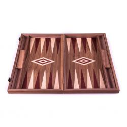 Set joc table/backgammon - Inlaid Nuc - 48 x 60 cm2
