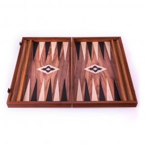 Set joc table/backgammon lemn cu aspect de nuc – 38 x 44 cm [1]