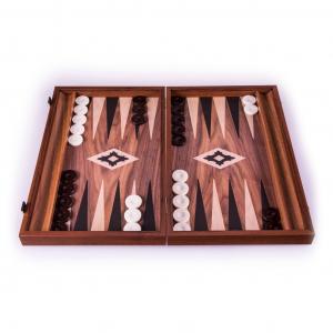 Set joc table/backgammon lemn cu aspect de nuc – 38 x 44 cm [0]