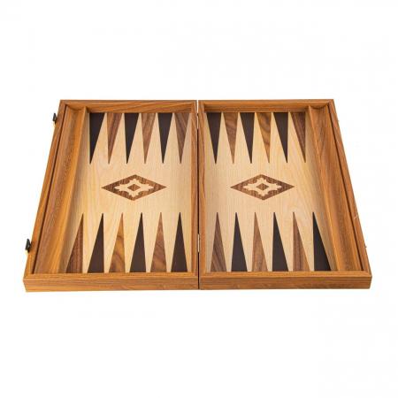 Set joc table/backgammon lemn cu aspect de stejar – 47,5 x 60 cm [0]