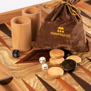 Set joc table/backgammon Maslin 48 x60 cm0
