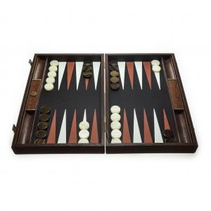 Set joc table backgammon piele model Crocodil - 48 x 601