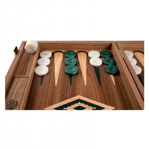 Set joc table / backgammon Walnut cu insertii verzi6