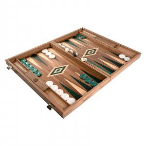 Set joc table / backgammon Walnut cu insertii verzi4