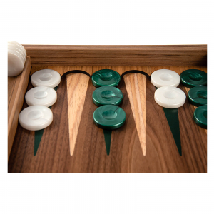 Set joc table / backgammon Walnut cu insertii verzi7