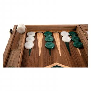 Set joc table / backgammon Walnut cu insertii verzi5