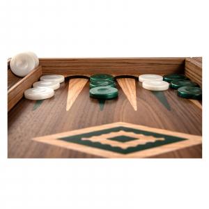 Set joc table / backgammon Walnut cu insertii verzi8