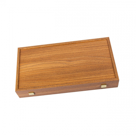 Set joc table/backgammon Walnut with Black &Oak points  38 x 38 cm [0]