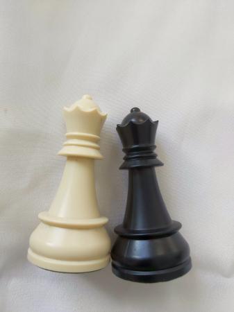 Set Piese Regina Alba  si Neagra pentru setul de piese plastic DGT cu inaltimea regelui de 95 mm [1]