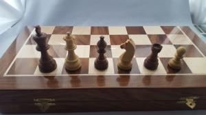 Set piese si cutie cu tabla de sah - Tournament [1]