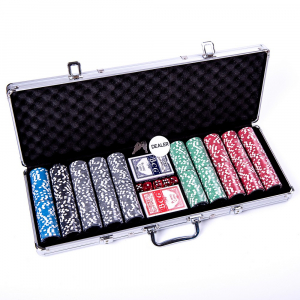 Set poker cu 500 chips-uri ABS 11,5g model ULTIMATE si servieta din aluminiu2